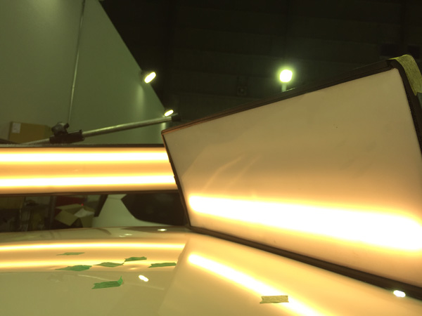 ベンツA180雹害車デントリペア