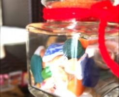 貝殻の小瓶