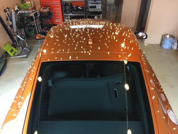 アウディTT雹害車デントリペア